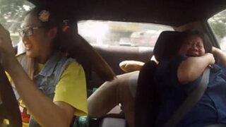 Malasia: campeona de automovilismo le da un susto a instructores de manejo