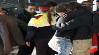 Pagarán 50.000 euros a familiares de las víctimas del avión en Francia
