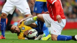 VIDEO: mira el terrible pisotón de Medel a Neymar en el amistoso Brasil-Chile