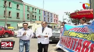Médicos de EsSalud protestan por traslado a local sin medidas de seguridad
