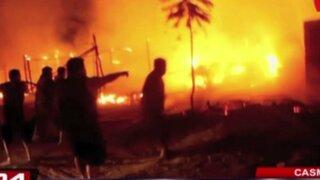 Incendio destruyó 20 viviendas de asentamiento humano en Casma
