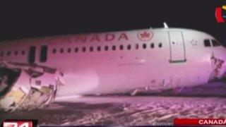 Avión se despista y provoca más de 20 heridos en Canadá