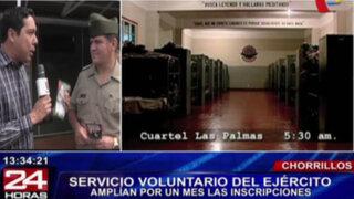 Ejército amplió hasta finales de abril inscripción para el servicio voluntario