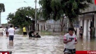 Fuertes lluvias causaron graves inundaciones en Tumbes