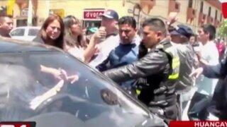 Huancayo: simulacro de accidente de tránsito termina en gresca