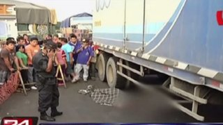 Estibador muere tras ser atropellado por camión en La Victoria