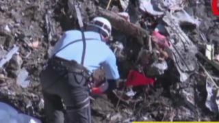 Autoridades hallaron supuesta grabación de avión siniestrado en Francia