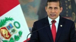 Ollanta Humala sube ligeramente su aprobación en nueva encuesta