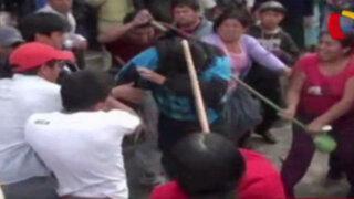 Cajamarca: pobladores dan salvaje golpiza a ladrones