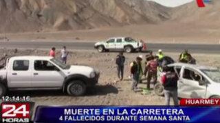 Muertos y heridos dejaron varios accidentes de tránsito en el interior del país