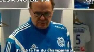 El emotivo discurso de Bielsa a jugadores del Olympique de Marsella tras derrota