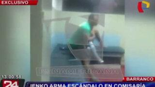 VIDEO: modelo Jenko del Río arma escándalo en la comisaría de Barranco