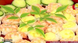 Aprende los pasos para preparar un Temari Sushi con 6 ingredientes