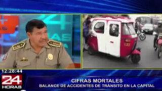 Muertes por accidentes de tránsito se incrementó un 17% en Lima