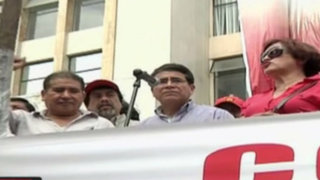 CGTP marcha exigiendo respeto a derechos laborales