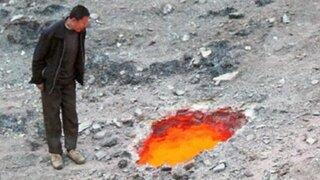 """FOTOS : encuentran """"la puerta del infierno"""" en China"""