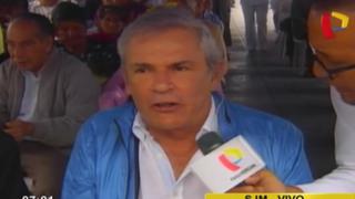 """Castañeda sobre by pass en av. 28 de Julio: """"Todo es perfectamente legal y bien hecho"""""""