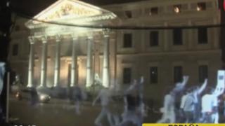 Realizan protesta con hologramas contra 'ley mordaza' en España