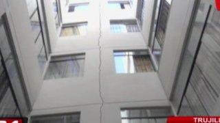 Trujillo: sismo de 5 grados provoca rajaduras en edificio