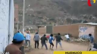 Huánuco: batalla campal entre bandos que disputan terreno deja varios heridos