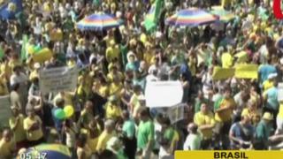 Brasil: realizan masiva protesta contra ajustes de gobierno y caso Petrobas
