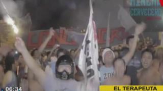 Copa Libertadores: hinchas de Cristal realizaron 'banderazo' previo al choque con Guaraní