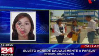 Callao: continúa en estado delicado mujer golpeada salvajemente por su pareja