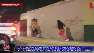 Informe 24: la lucha contra la delincuencia y la prostitución en el Centro de Lima