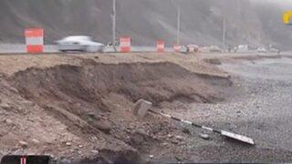 Tercer carril de la Costa Verde presentaría daños en su estructura por fuerte oleaje