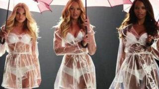 VIDEO: bellas ángeles de Victoria's Secret bailan bajo la lluvia en diminuta lencería
