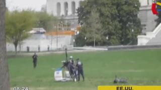 Estados Unidos: hombre vulnera seguridad y aterriza en Capitolio con mini helicóptero