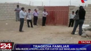 Tacna: niña muere atropellada por custer que manejaba su padre