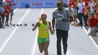Brasil: Usain Bolt corrió como guía de la atleta ciega más rápida del mundo