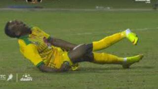 La escalofriante lesión de tobillo en un partido en Arabia Saudita