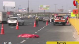 Surco: chef muere tras ser atropellado por bus en la Panamericana Sur