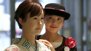 Empresa de Tokio presentó a robot como nueva recepcionista