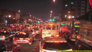 Choferes piden más 'by pass': calles de Lima colapsan por gran número de vehículos