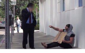 VIDEO : ¿Qué pasa cuando un mendigo ofrece dinero a las personas?