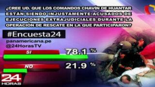 Encuesta 24: 78.1% cree que comandos Chavín de Huántar son injustamente acusados
