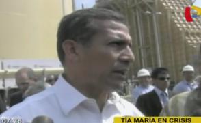 Humala pide paz en Arequipa: asegura que paro antiminero tiene fines electorales