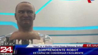 """Presentan a """"Han"""", un robot que habla, tiene expresiones y contacto visual"""