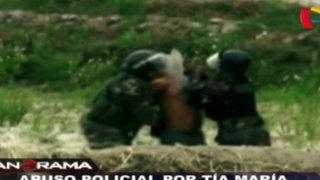 Abuso policial por Tía María: violencia injustificable