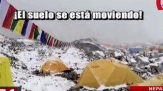 Nepal: montañistas graban avalancha de nieve provocada por terremoto