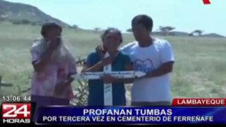 Lambayeque: desconocidos profanan tres tumbas en cementerio de Ferreñafe