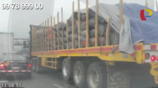 WhatsApp: camiones de carga generan caos en la Vía de Evitamiento