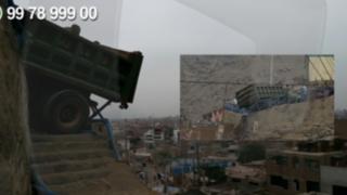 WhatsApp: camión lleno de arena por caerse alerta a vecinos de Ate Vitarte