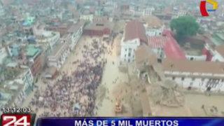 Drone muestra la destrucción en Nepal tras el terremoto