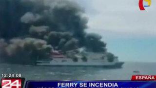 Ferry ardió por varias horas cerca de la ciudad española de Mallorca