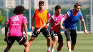 Cristian Benavente entrenó con el primer equipo del Real Madrid