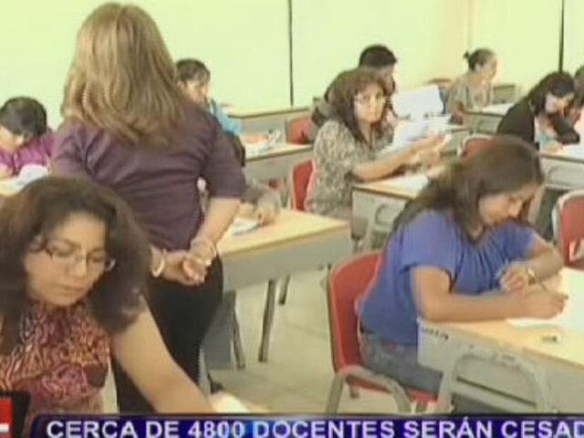 Cerca de 4800 docentes serán cesados por no aprobar examen